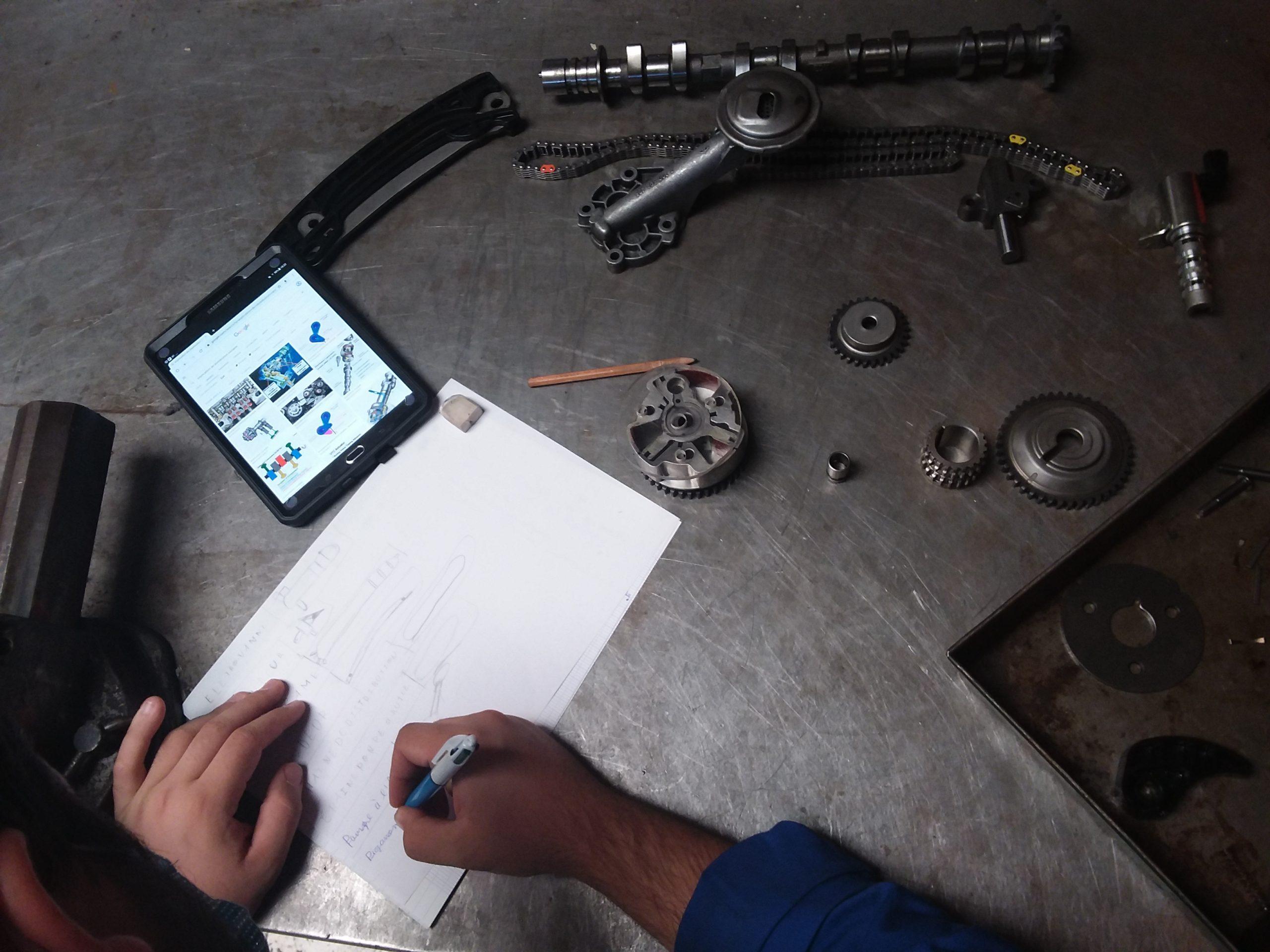 L'identification des différentes pièces dans le cadre du chef d'œuvre en CAP MV Lavoisier