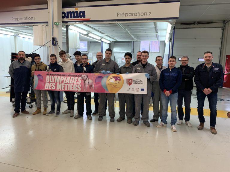 Pré-selections des Olympiades des Metiers 2020 en peinture automobile le 12 décembre 2019 à Lavoisier Brive
